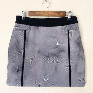 Adidas | Black & White Skort Back Front Pockets S